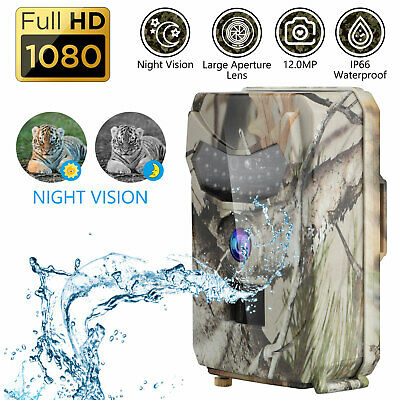 16MP Hunting Trail Game Camera HD 1080P Night Vision Animal Scouting Cam Monitor