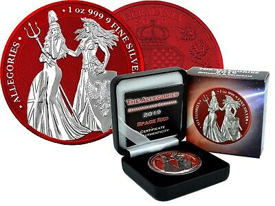 Germania The Allegories Britannia & Space Red 1 Pouces 999 Pièce D'Argent