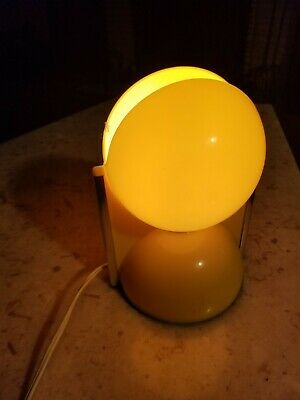 Vintage Mid Century Modern  Crayonne British Pacman Shaped Lamp Plastic Yellow