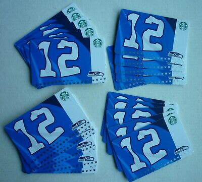 20 -  STARBUCKS CARDS SEATTLE SEAHAWKS 12 th FLAG 2019 #6169 FAN MAN NO VALUE