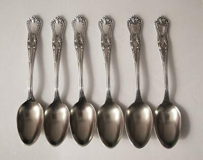 6 Vintage Towle Mfg Co. Silver Plate CHESTER Demitasse Spoons