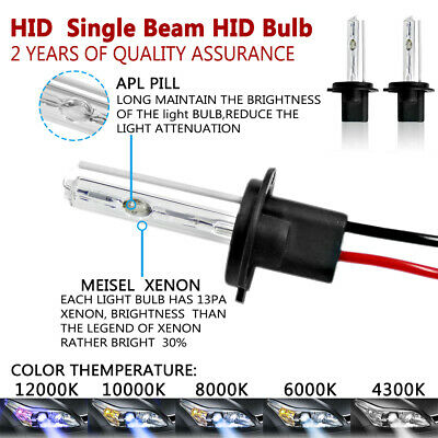 2 Year Warranty 1 Pair Diamond White Innovited HID Xenon H1 6000K Replacement Bulbs