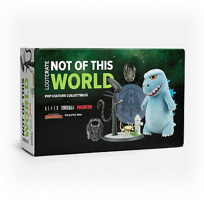 LOOT CRATE NOT OF THIS WORLD GODZILLA,ALIEN,PREDATOR,PACIFIC RIM Exclusive NEW