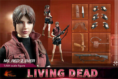 HOT HEART 1/6th Female Zombie Killer Ms Red Soldier Action Figure FD008 Collecte