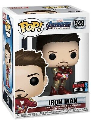"""OFFICIAL"" NYCC 2019 FUNKO POP! AVENGERS ENDGAME TONY STARK IRON MAN w/ GAUNTLET"