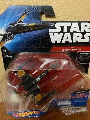 Disney Hot Wheels Star Wars Starships Poe's X-Wing Fighter W/ Flight Navigator