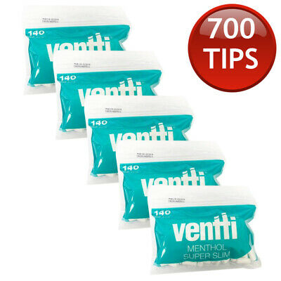 5 x MENTHOL VENTTI FILTER TIPS TUBE ROLLING PAPER TOBACCO CIGARETTE ROLLER 140s