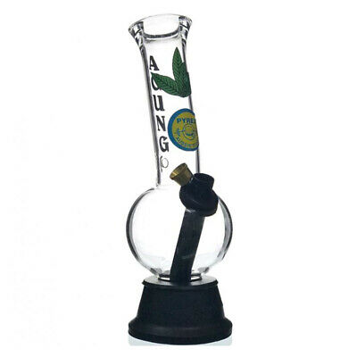 AGUNG CHEECH LEAF GLASS BONG WATERPIPES HOOKAH TOBACCO WATER PIPE CHAMBER 24cm