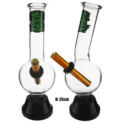 MEDIUM BONZA BUBBLE PYREX GLASS BONG SMOKING WATER PIPES TOBACCO WATERPIPE 25cm