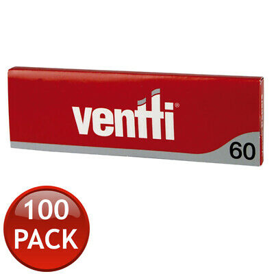 100 x VENTTI REGULAR SMOKING ROLLING PAPERS TOBACCO CIGARETTE RYO RED FILTER 60s