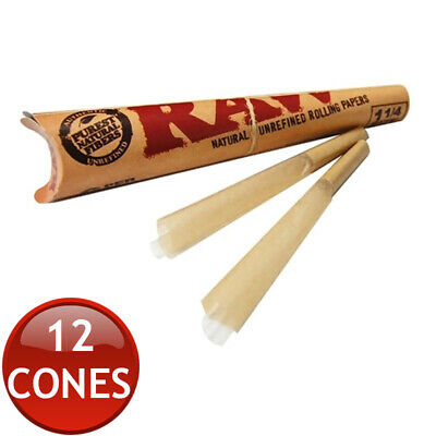 2 x RAW PRE-ROLLED CLASSIC HEMP CONES 1 1/4 ROLLING PAPERS TOBACCO CIGAR 6 PACK