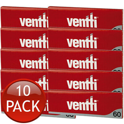 10 x VENTTI REGULAR SMOKING ROLLING PAPERS TOBACCO CIGARETTE RYO RED FILTER 60s