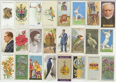 105 Cigarette Cards c.1910-1930s (VG-VG+) (Various Issuers & Subjects) All Diff
