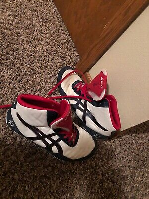 ASICS JB Elite  Men's 9 Wrestling Shoes MMA Training J501N Red White Blue