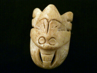 Lovely Chinese Old Jade *Amulet Mask* Little Pendant Maa018