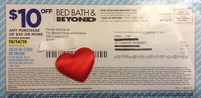 BED BATH & BEYOND $10 off $30 In-Store or Online Coupon til 11/25/19