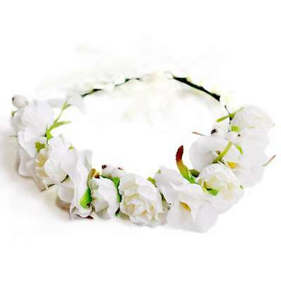 Boho Flower Crown Headband Floral Hair Garland Wreath Headpiece Handmade HS15-1