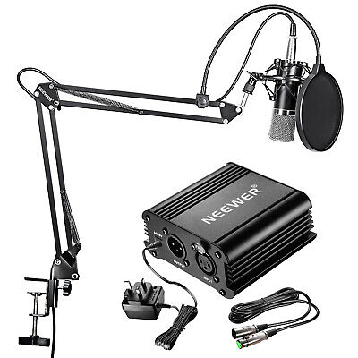 Neewer NW-700 Pro Studio Condenser Microphone Kit with Pop Filter + Shock Mount