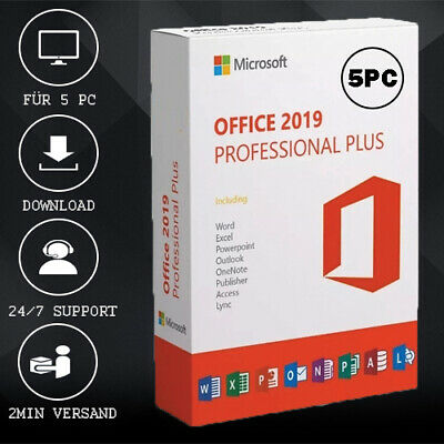 Office 2010/2013/2016/2019 Pro Plus - 1/5PC - 32&64 Bits - ESD Versand per Email