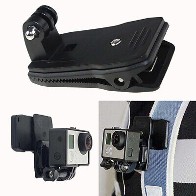 360 Degree Rotation Fast Clamp Backpack Hat Mount Fixing Clip for Gopro Camera