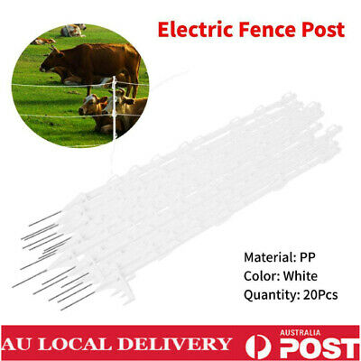 AU 20x Tread In Wire Pigtail Post Posts Electric Fence Pig Tail Strip Graze