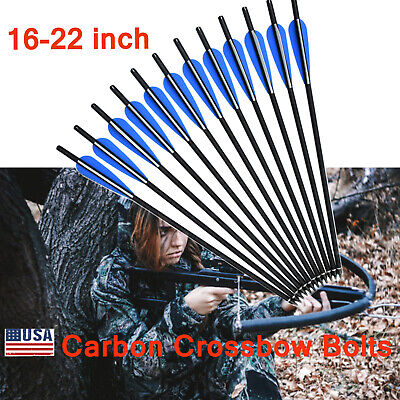 """Hot Hunting Crossbow Bolts Mixed Carbon Arrows for Archery Target Outdoor 16-22"""""""