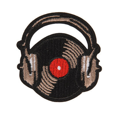 record music iron on patch sew embroidered applique fabric badge cloth sticke_sh