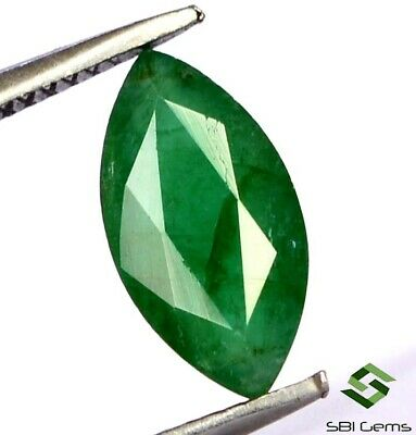 1.15 Cts Certified Natural Emerald Marquise Cut 10x5 mm Faceted Loose Gemstone