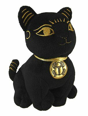 "Egyptian Bastet Stuffed Plush Doll. 10.5"" Large Soft Cuddly Bast Cat Kitten Cute"