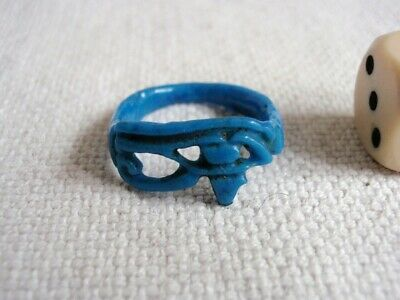 Ancient Egyptian  Faience  Eye Of Horus  Ring -