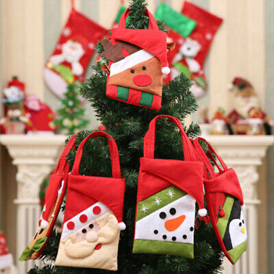 1/5/10Pcs Christmas Candy Bag Santa Claus Snowman Bear Elk Penguin Gift Bag