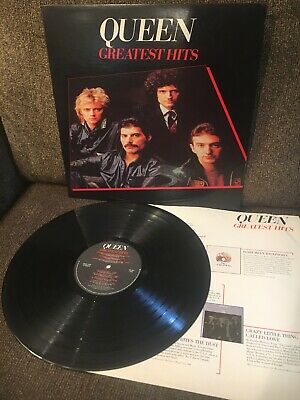 QUEEN Greatest Hits 1981 Elektra LP 5E-564 EXC-/EXC w/discography sleeve