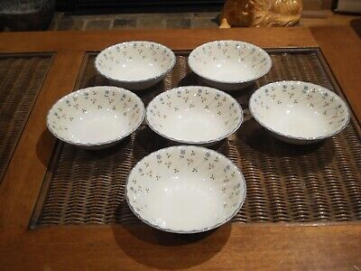 """Johnson Brothers Made In England """"Melody""""  Soup Bowls - Set Of 6"""