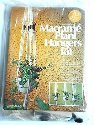 Vintage Macrame Plant Hangers Kit MAKES 3 NEW UNOPENED Leisure Home Parties