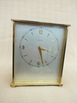 Lovely Vintage Brass Garrard 8 Day Mantel Clock