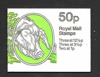 1983 Gloucester Old Spot Pig 50p booklet Corrected rate SG FB24b VGC stamps