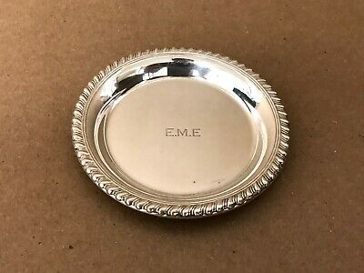 """Cartier 77 Sterling Silver .925 Butter Dish Small Plate Coaster 3-1/8"""" 33.1 Gram"""