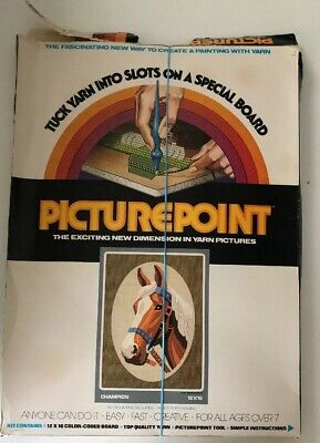 Vintage Creative Classics PicturePoint Yarn Craft Champion Horse @1976