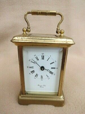 Vintage Bornand Freres Working Brass Carriage Clock For Tlc
