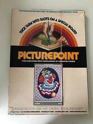 Vintage Creative Classics PicturePoint Yarn Craft CLOWN @1976
