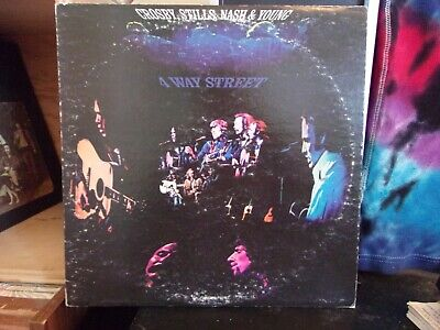 Crosby Stills Nash & Young Four Way Street 2LP 1970s pressing Triad