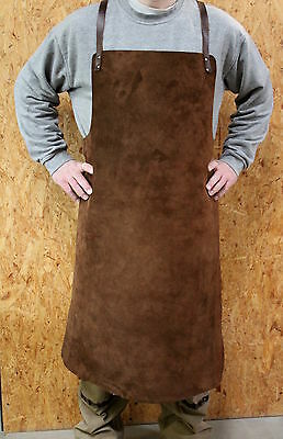 Sale: Large Real Leather Apron, as Welder's Apron, Schreinerschürze