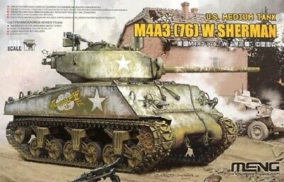 MENG MODEL TS-043 US Medium Tank M4A3(76)W Sherman in 1:35