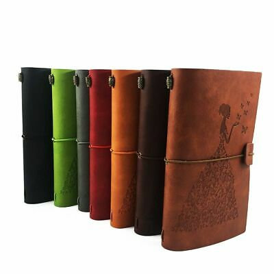 Leather Notebook Journal Note Book Refillable Creative Stationery
