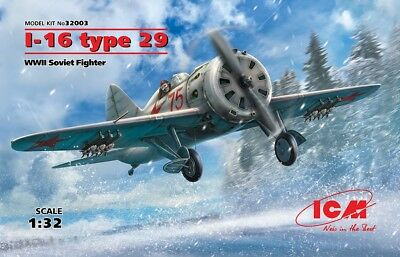ICM 32003 WWII Soviet Fighter I-16 Type 29 in 1:32