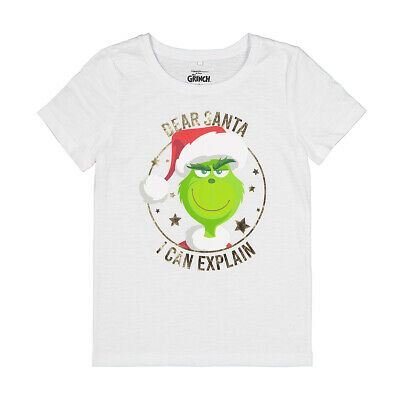 Dr Seuss The Grinch Dear Santa Girls Christmas tee t shirt top New with tags