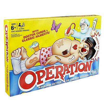 Hasbro Gaming Classic Operation Game Family Fun For All Gift Toy Kids Games New