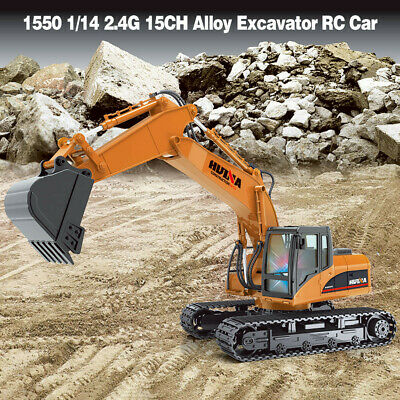 HuiNa Toys 1550 1/14 2.4G 15CH Alloy Excavator Engineering Vehicle RC Car