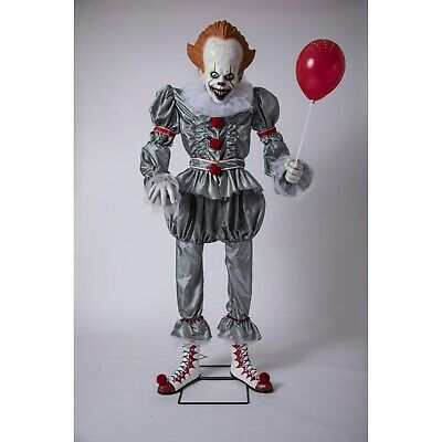 Pennywise the Clown Life Size 6' Animated Halloween Prop from 2019 IT Movie