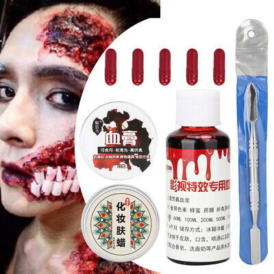 Halloween Fancy Dress Fake Scar Wound Skin Wax Body Face Painting Make Up Tools